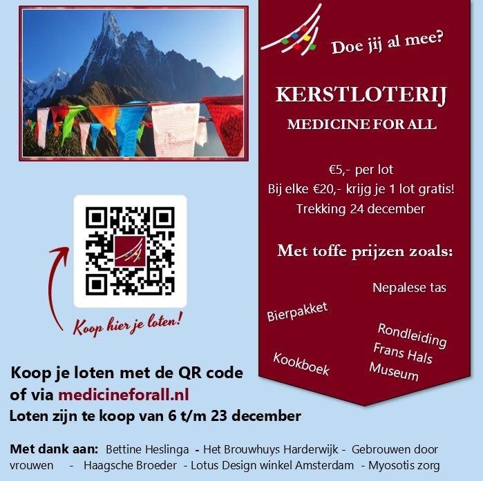 flyer social media met QR code